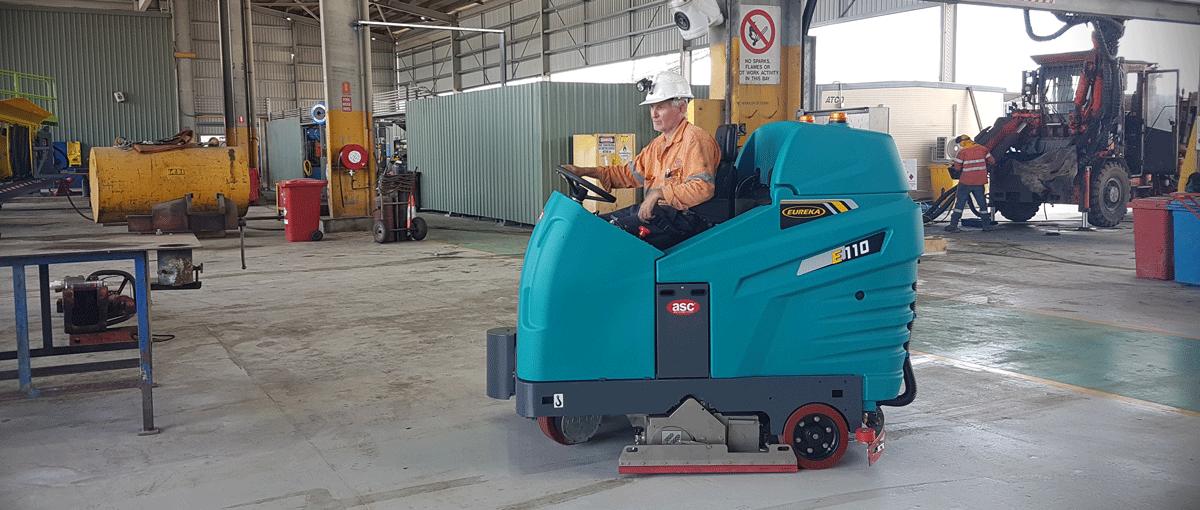 Lavasciuga Spazzatrice per pulizia di una miniera in Australia