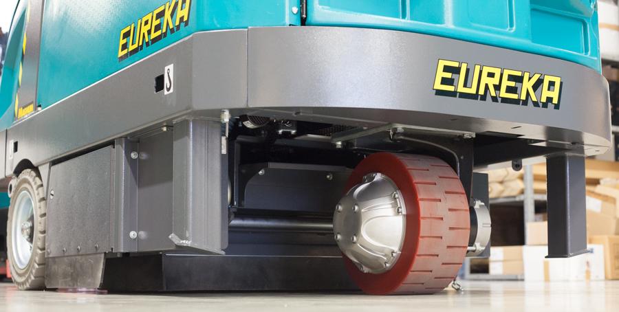 Nuova motorizzazione per la spazzatrice per pavimenti magnum EB di Eureka