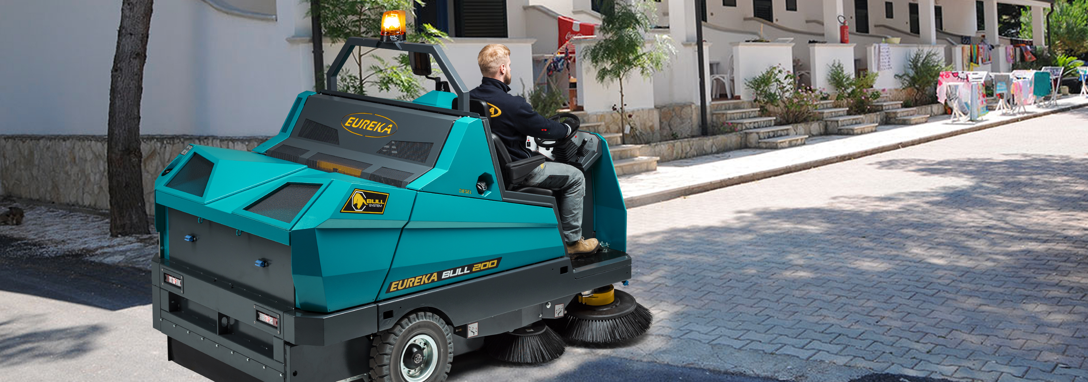 which sweeper is most suitable to maintain a camp site or holiday village?