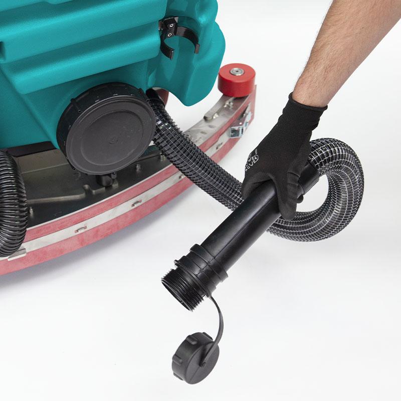 necked drain hose | Eureka E110-R combo machine