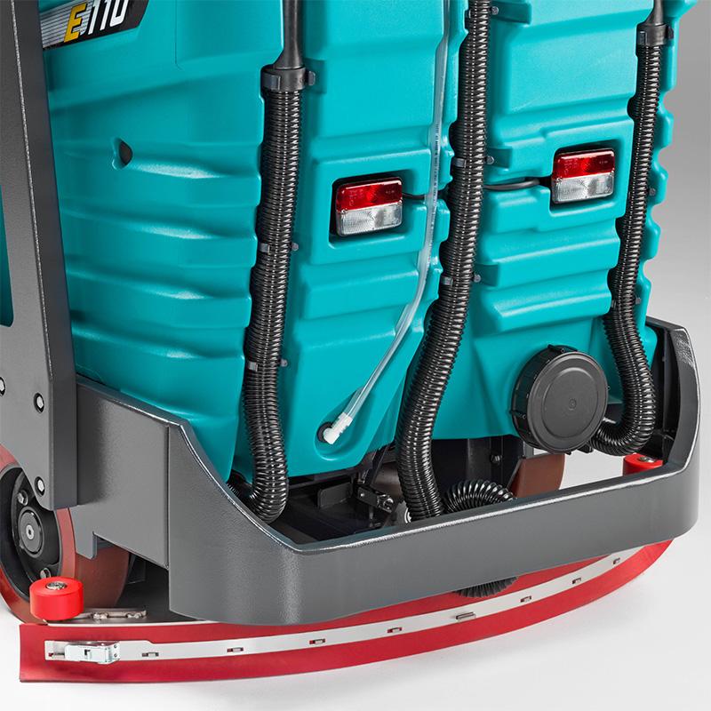 E110-R comi sweep /scrub machine |  Linatex® squeegee blades