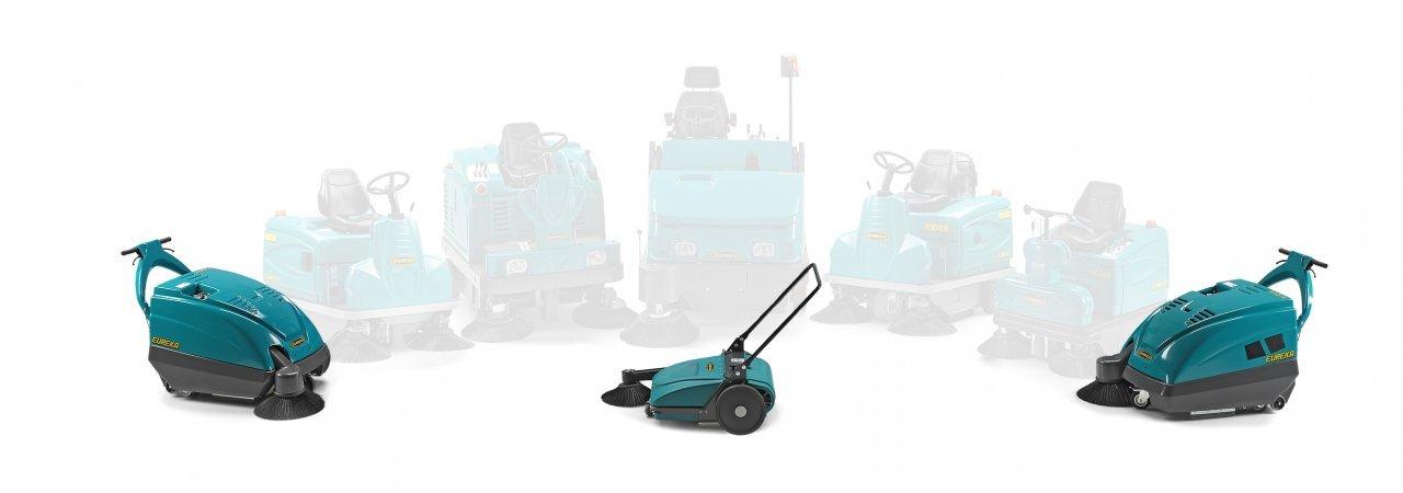 What is a walk-behind floor sweeper?