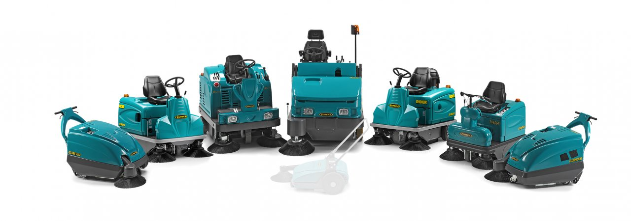 Eureka electric sweepers are emission free cleaning machines