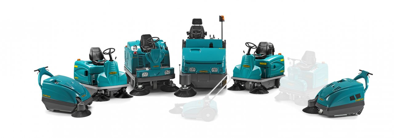 Eureka motorised industrial sweepers