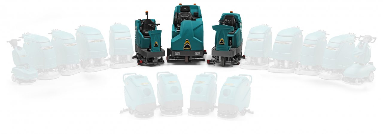 Eureka offers various models of ride on scrubber dryers