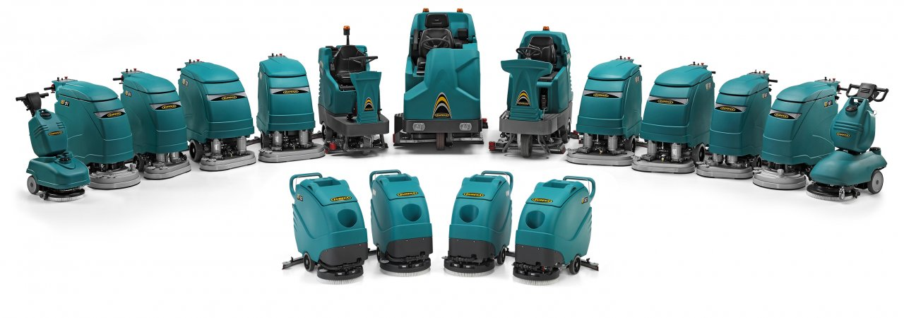 electric floor scrubber that works thanks to energy storage systems, commonly known as traction batteries