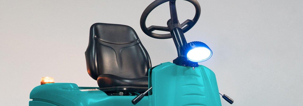 Phare Bleu de Sécurité disponible pour les machines autoportées Eureka