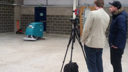 Shooting of PTS TV advertising campaign with Eureka cleaning machines