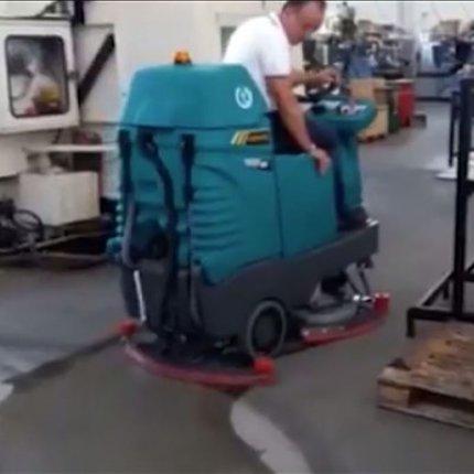 Short video demonstration   Eureka E85 scrubber-dryer