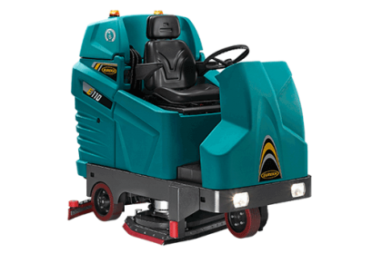 HIGH PERFORMANCE EVEN ON THE TOUGHEST INDUSTRIAL FLOOR! E110 RIDE-ON SCRUBBER-DRYER