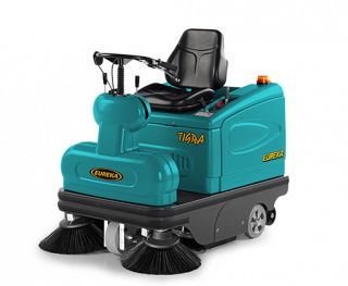 COMBINES THE MANEUVERABILITY AND USER-FRIENDLINESS OF A WALK-BEHI ND MACHINE WITH TH E EFFICIENCY OF A RID E-O N SWEEPER. TIGRA RIDE-ON VACUUM SWEEPERCOMBINES THE MANEUVERABILITY AND USER-FRIENDLINESS OF A WALK-BEHI ND MACHINE WITH TH E EFFICIENCY OF A RID E-O N SWEEPER. TIGRA RIDE-ON VACUUM SWEEPER
